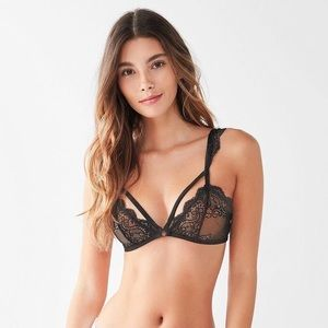 nwt uo bella flutter strappy lace sheer bralette